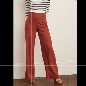 AF linen pants with gold buttons